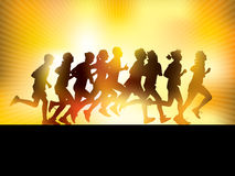 Povos Running ilustração royalty free