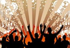 Multidão de Grunge ilustração royalty free