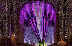 Multidão de luzes na noite Imagem de Stock Royalty Free
