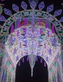 Multidão de luzes na noite Fotografia de Stock