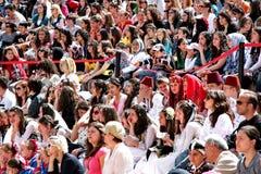 Multidão de povos imagens de stock
