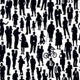 Multidão de povos ilustração do vetor