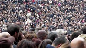 Multidão de povos video estoque