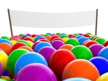 Multidão de povos coloridos Fotos de Stock