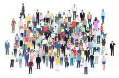Multidão de povos diferentes, ilustração do vetor Imagens de Stock Royalty Free