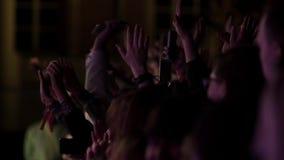 Multidão de povos em um concerto vídeos de arquivo