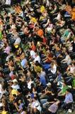 Multidão de povos em um fósforo do tênis Foto de Stock