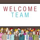 Multidão de povos na boa vinda Team State do evento da empresa Imagens de Stock