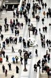Multidão de povos na rua Fotos de Stock Royalty Free