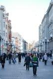 Multidão de povos na rua de Arbat Foto de Stock