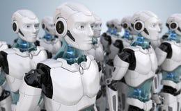 Multidão de robôs ilustração stock