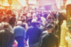 Multidão do borrão de conceito de Peole fotografia de stock royalty free