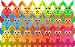 Multidão do coelho ilustração do vetor