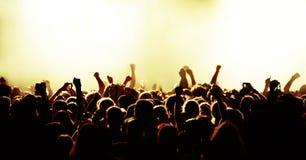 Multidão do concerto Imagem de Stock Royalty Free