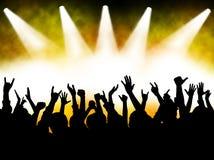 Multidão do concerto ilustração stock