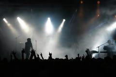 Multidão do concerto Fotos de Stock Royalty Free