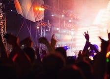 Multidão do concerto imagem de stock
