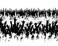 Multidão do concerto Foto de Stock
