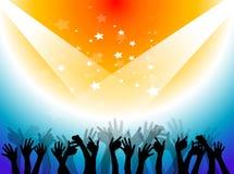 Multidão do concerto ilustração royalty free