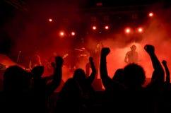 Multidão do concerto