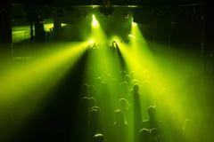 Multidão do concerto de rocha Imagem de Stock