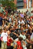 Multidão do festival do verão Fotos de Stock