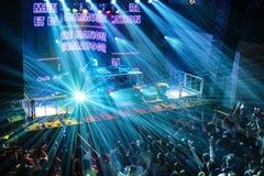 Multidão do festival na onda urbana fistival o 16 de abril de 2011 em Minsk, Bielorrússia fotos de stock royalty free