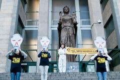 Multidão do flash de Greenpeace Imagem de Stock