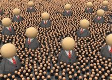 Multidão do negócio, autoridades ilustração royalty free