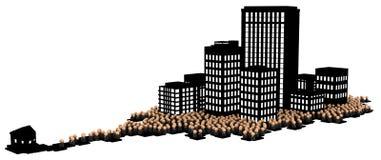 A multidão do negócio, obscuridade comuta Imagens de Stock
