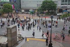 Multidão do Tóquio Imagens de Stock Royalty Free