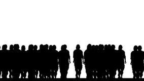 Multidão dos corredores ilustração do vetor