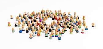 Multidão dos desenhos animados, centro vazio Fotografia de Stock Royalty Free