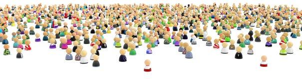 Multidão dos desenhos animados, distante e largamente Imagens de Stock Royalty Free