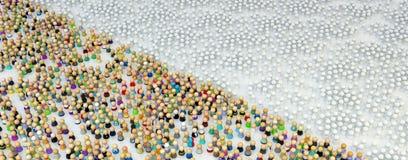 Multidão dos desenhos animados, figura Split do campo Fotos de Stock