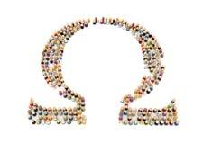 Multidão dos desenhos animados, Omega Fotos de Stock Royalty Free
