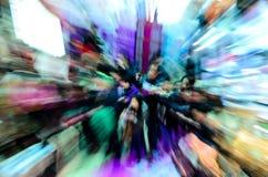 Multidão dos povos de cidade no shopping Imagem de Stock Royalty Free