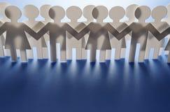Multidão dos povos de papel Imagem de Stock