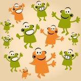 Multidão dos povos dos desenhos animados Fotos de Stock Royalty Free