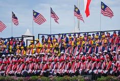 Multidão durante o Dia da Independência de Malásia Fotos de Stock