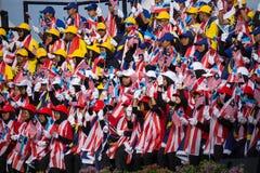 Multidão durante o Dia da Independência de Malásia Fotos de Stock Royalty Free