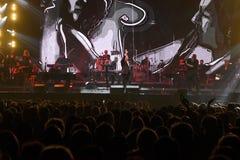 Multidão e atmosfera geral durante concerto do aniversário do ano de Viktor Drobysh o 50th em Barclay Center Imagem de Stock
