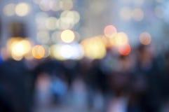 Multidão e luzes abstratas Foto de Stock