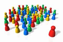 A multidão e o líder Imagens de Stock