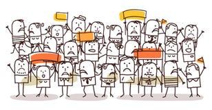 Multidão e protesto ilustração do vetor
