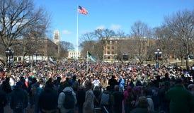 Multidão em Ann Arbor Hash Bash 2014 imagem de stock royalty free