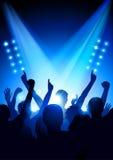 Multidão em um concerto ilustração royalty free
