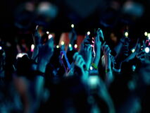 Multidão em um concerto video estoque