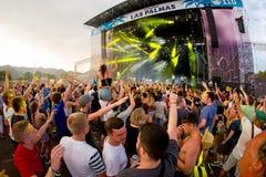 Multidão em um concerto no festival FIB fotos de stock royalty free