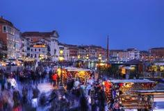 Multidão em Veneza Fotografia de Stock